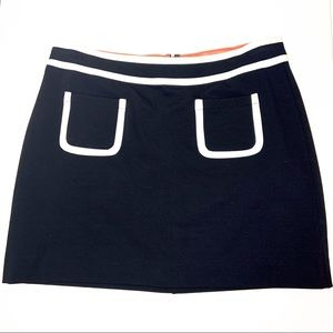 Banana Republic Contrast Mini Skirt
